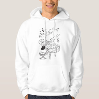 Richie Rich Playing Piano - B&W Hoodie