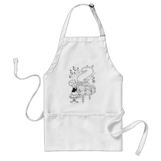 Richie Rich Playing Piano - B&W Standard Apron