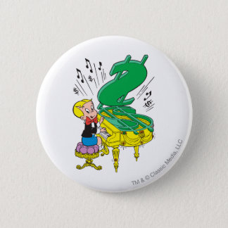 Richie Rich Playing Piano - Color 6 Cm Round Badge
