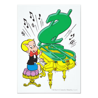 Richie Rich Playing Piano - Color Card