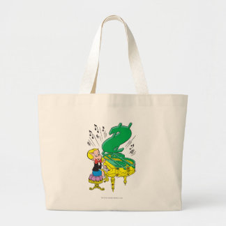 Richie Rich Playing Piano - Color Large Tote Bag