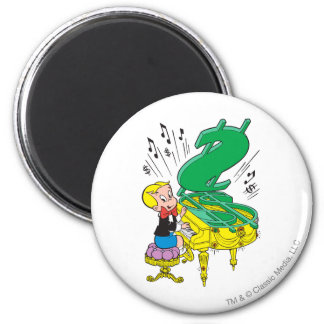 Richie Rich Playing Piano - Color Magnet