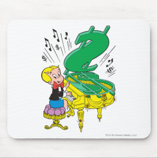 Richie Rich Playing Piano - Color Mouse Mat