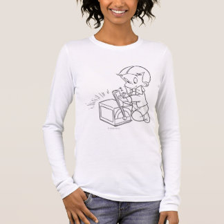 Richie Rich Playing with Toy - B&W Long Sleeve T-Shirt