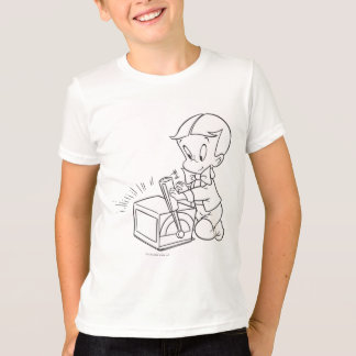 Richie Rich Playing with Toy - B&W T-Shirt