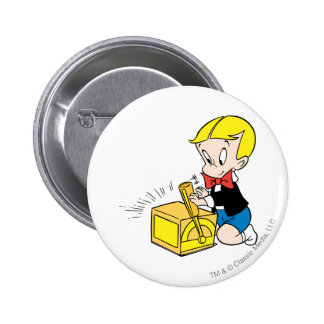Richie Rich Playing with Toy - Color 6 Cm Round Badge