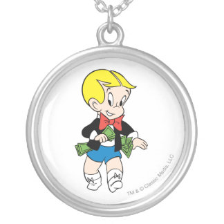 Richie Rich Pockets Full of Money - Color Silver Plated Necklace