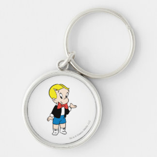 Richie Rich Standing - Color Silver-Colored Round Key Ring