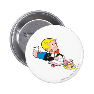 Richie Rich Studying - Color 6 Cm Round Badge