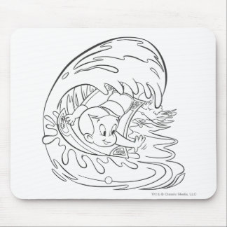 Richie Rich Surfing - B&W Mouse Pad
