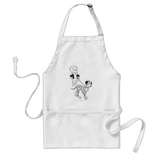 Richie Rich Walks Dollar the Dog - B&W Standard Apron
