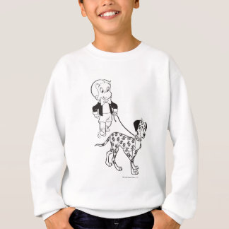 Richie Rich Walks Dollar the Dog - B&W Sweatshirt