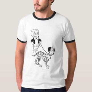 Richie Rich Walks Dollar the Dog - B&W T-Shirt