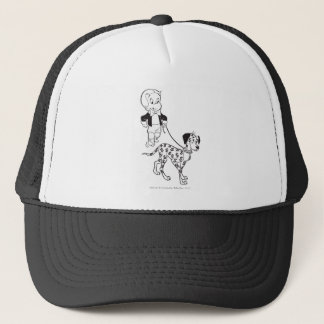 Richie Rich Walks Dollar the Dog - B&W Trucker Hat
