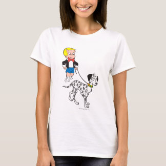 Richie Rich Walks Dollar the Dog - Color T-Shirt