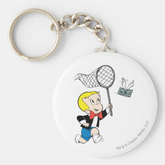 Richie Rich with Net - Color Basic Round Button Key Ring