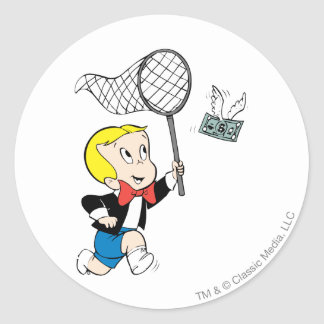 Richie Rich with Net - Color Classic Round Sticker