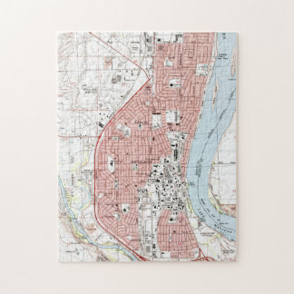 Richland Washington Map (1992) Jigsaw Puzzle