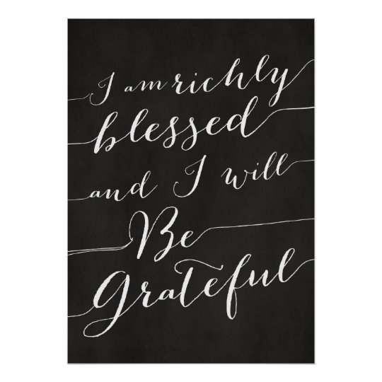 RICHLY BLESSED AND GRATEFUL - Thanksgiving Poster