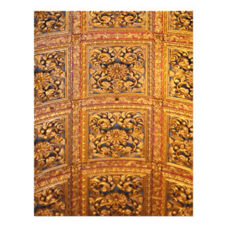Richly decorated ceiling 21.5 cm x 28 cm flyer