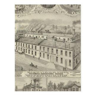Richmond Agricultural Works, Richmond, Ind Postcard