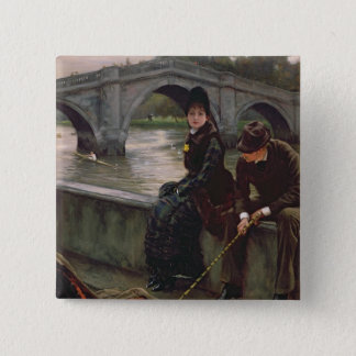 Richmond Bridge, c.1878 15 Cm Square Badge
