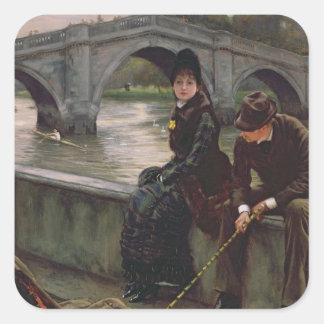 Richmond Bridge, c.1878 Square Sticker
