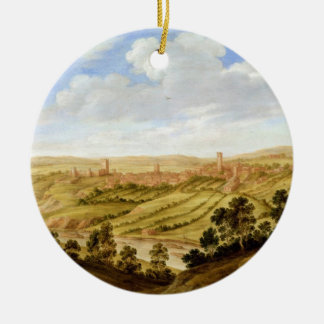 Richmond Castle, Yorkshire, c.1640-41 (oil on pane Christmas Ornament