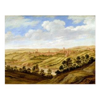 Richmond Castle, Yorkshire, c.1640-41 (oil on pane Postcard