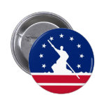 Richmond city flag united state america Virginia Buttons