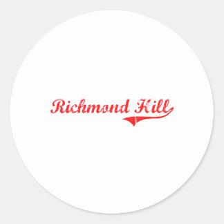 Richmond Hill Georgia Classic Design Stickers