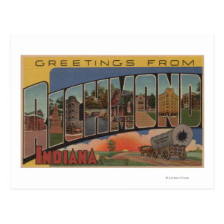 Richmond, Indiana - Large Letter Scenes Postcard