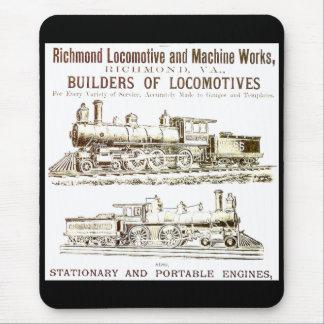 Richmond Locomotive and Railroad Works Mouse Mat
