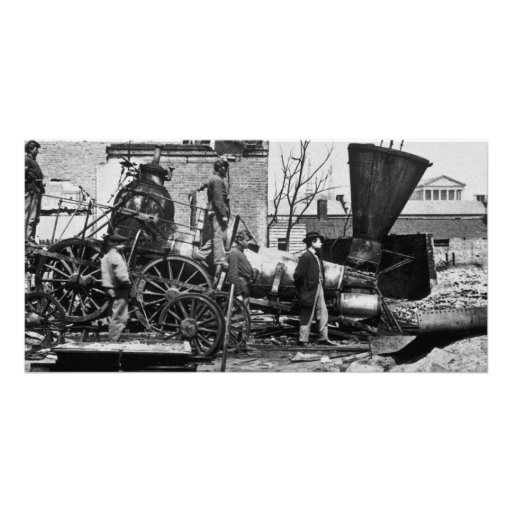 Richmond & Petersburg RR Ruins Richmond VA Customized Photo Card