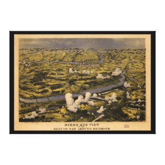 Richmond Showing the Battle of Chickahominy River Canvas Print