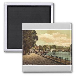 Richmond, the bridge, London and suburbs, England Square Magnet