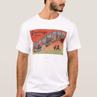 Richmond, Virginia - Large Letter Scenes 3 T-Shirt