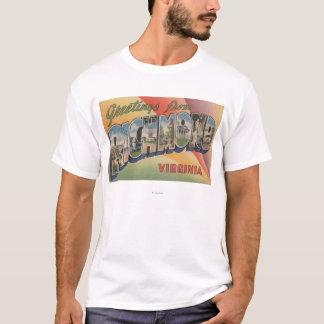 Richmond, Virginia - Large Letter Scenes T-Shirt
