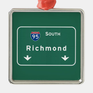 Richmond Virginia va Interstate Highway Freeway : Silver-Colored Square Decoration