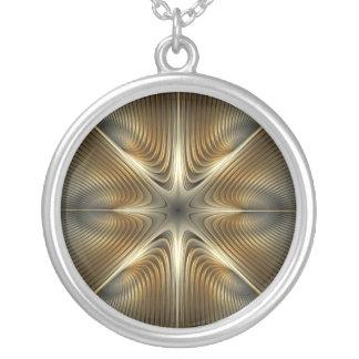 Richochet Round Pendant Necklace
