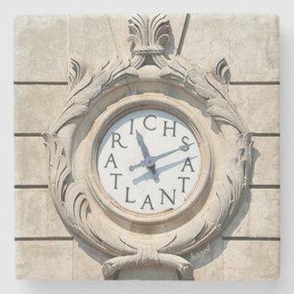 Richs Clock Downtown Atlanta Marble Stone Coaster. Stone Coaster