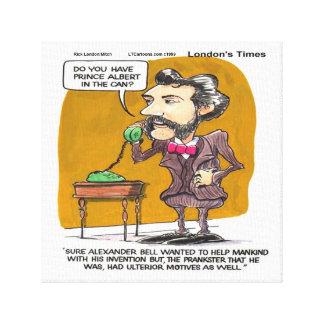 Rick London Funny Alexander Bell PhonePrank Print Canvas Print