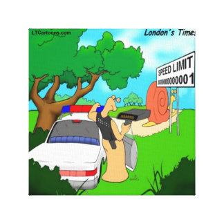 Rick London Slug Traffic Cop Canvas Print