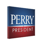 Rick Perry 2012 Election Gear Canvas Print