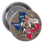 Rick Perry 2016 Bronco Buckaroo Pins