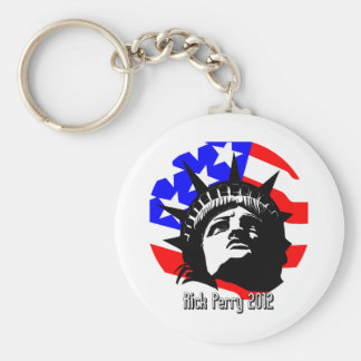 Rick Perry Basic Round Button Key Ring