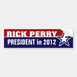 Rick Perry in 2012 Bumper Stickers