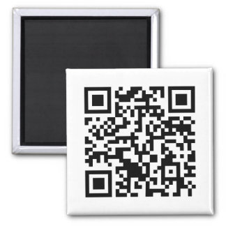 Rick Roll QR Code Rickrolled Square Magnet