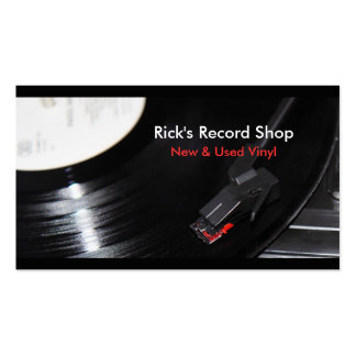 Rick s Record Shop Business Card Templates