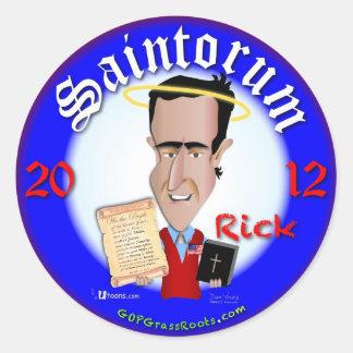 Rick Saintorum Round Sticker
